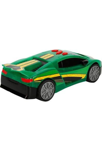 Maxx Wheels Sesli ve Işıklı Laser Wheels Araba 22 cm - Yeşil