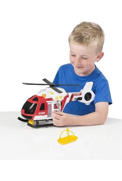 Teamsterz Sesli ve Işıklı Itfaiye Kurtarma Helikopteri - Kırmızı