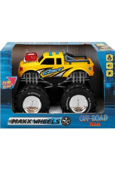 Maxx Wheels Sesli ve Işıklı Dev Teker Araç - Sarı
