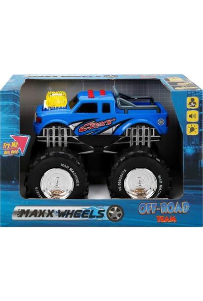 Maxx Wheels Sesli ve Işıklı Dev Teker Araç - Mavi