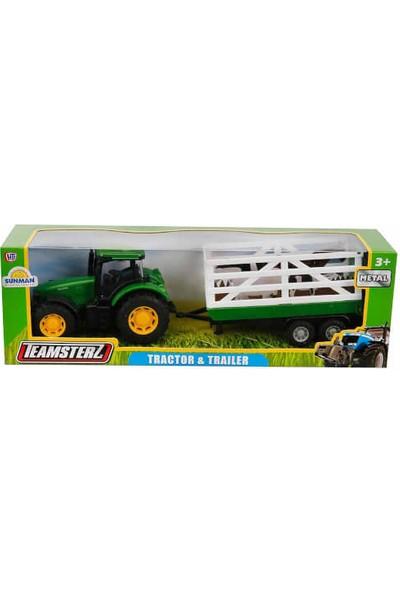 Teamsterz 1:32 Teamsterz Römorklu Traktör - Yeşil