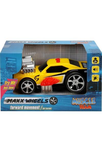 Maxx Wheels Sesli ve Işıklı Yarış Arabası - Sarı
