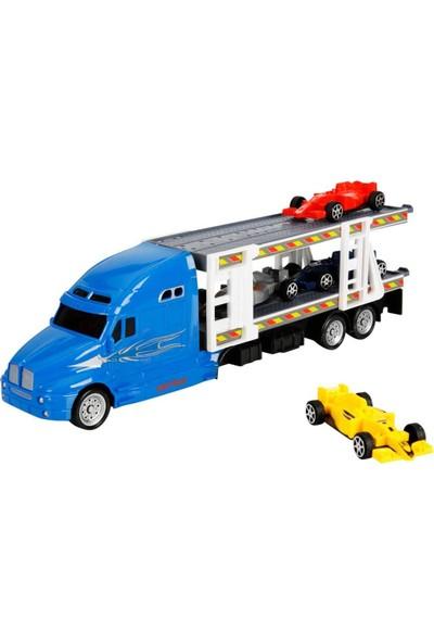 1:48 Maxx Wheels Transporter Tır 30 cm - Mavi