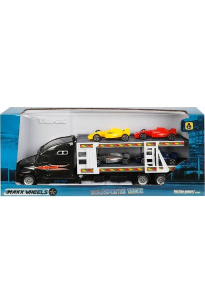 1:48 Maxx Wheels Transporter Tır 30 cm - Siyah