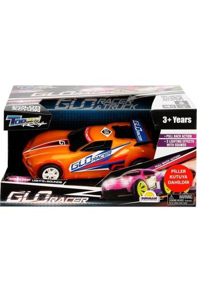 Kidztech Sesli ve Işıklı Glo Racer Çek Bırak Araba 18 Cm. - Turuncu