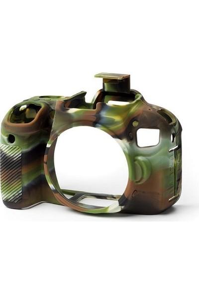 Easycover Canon 800D Silikon Kılıf ECC800DC (Kamuflaj)
