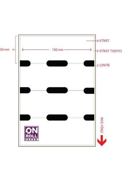 On Roll Paper 100X38 Termal Karton Raf Etiketi 500'LÜ 6 Rulo Toplam 3.000 Adet