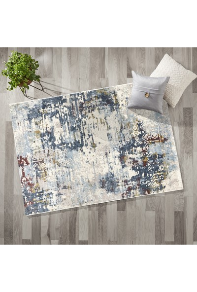 Payidar Halı Feyz'a G7257 Krem/Mavi 80 x 150 cm Modern Halı