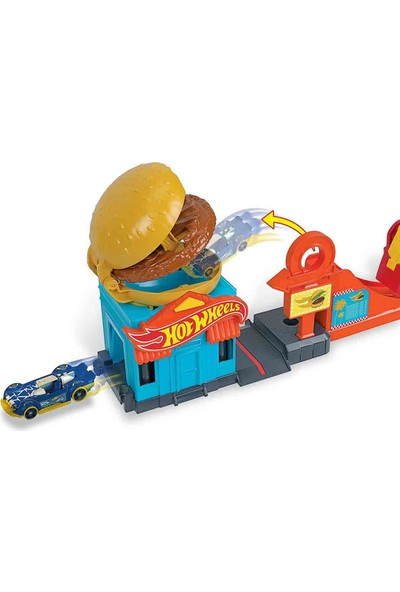 Hot Wheels Şehir Otoparkı Garaj Seti FRH28 - Burger Dash