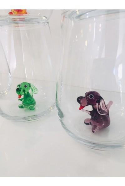 Adamodart Köpek Cam Figürlü Su Bardağı 6'lı Set