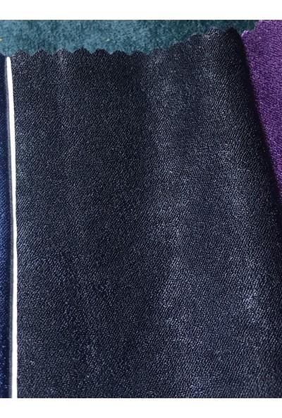 Perle Home Elegance Series Lacivert Fon Perde 150X260 Ekstrafor Büzgülü