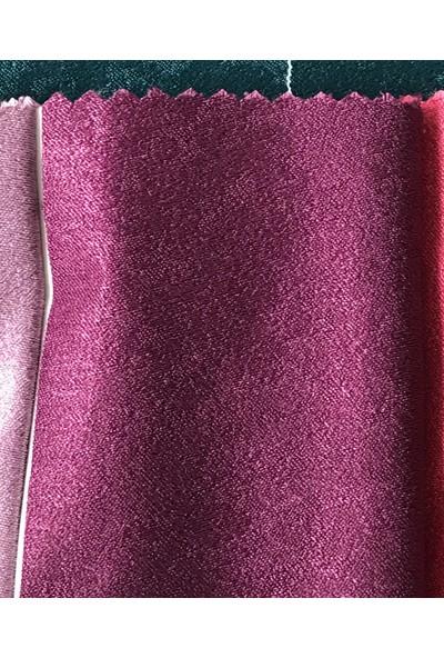 Perle Home Elegance Series Vişne Rengi Fon Perde 150X260 Ekstrafor Büzgülü