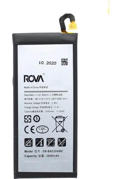 Rova Samsung A5 2017 Batarya (A520) Kvk Pil Yüksek Kapasite 3000mAh