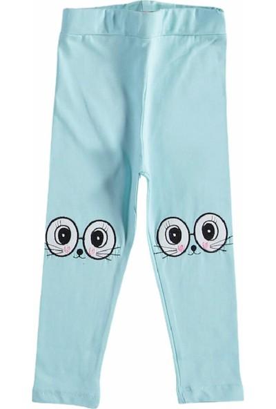 Timi Kids Mavi Kedi Gözlü Tayt