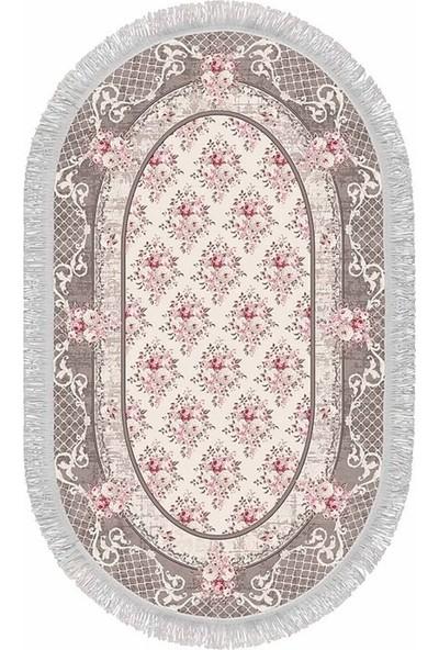 Seroni Home Textile Gül Bahçesi Ince Saçaklı 80X120 Paspas