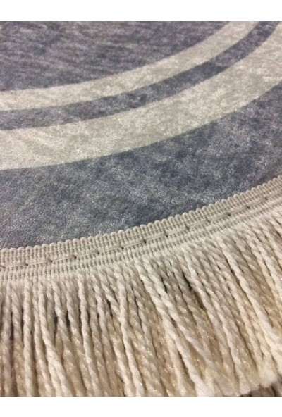 Seroni Home Textile Sempati Sade Ince Saçaklı 80X120 Paspas