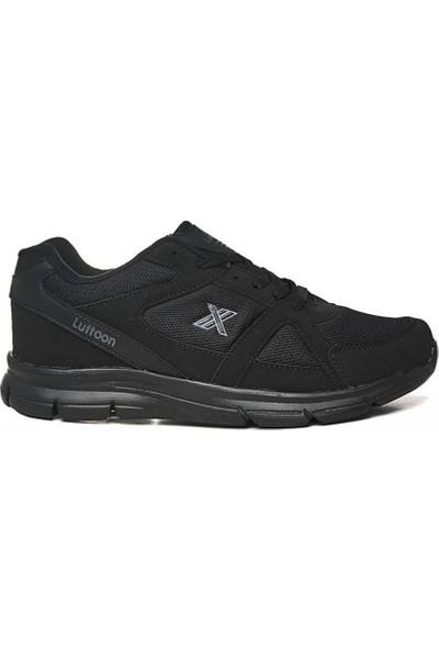 Erkek Spor Ayakkabı Büyük Numara Siyah 45-49 Numara Spor Ayakkabısı Topuk Dikeni Desteği