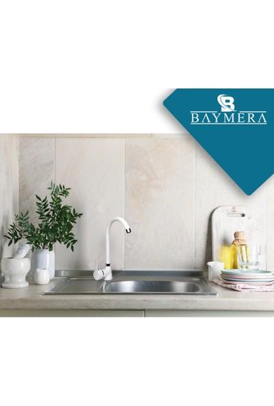 Baymera Delta Serisi Beyaz Kuğu Mutfak Bataryası