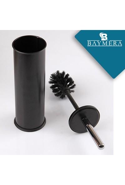 Baymera 5 lt Çöp Kovası ve Wc Fırçası Banyo Seti - Siyah