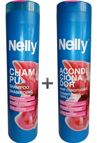 Nelly Düzleştirici Etkili Şampuan 400 ml + Saç Kremi 400 ml