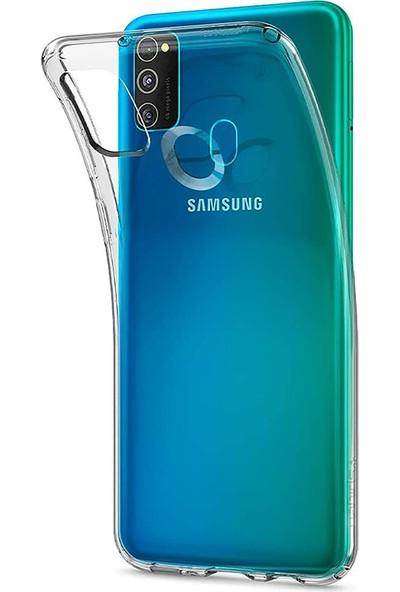 Vinn Mood Samsung Galaxy M21 Kılıf Antishock Silikon Köşeli Şeffaf Airbag Arka Kapak