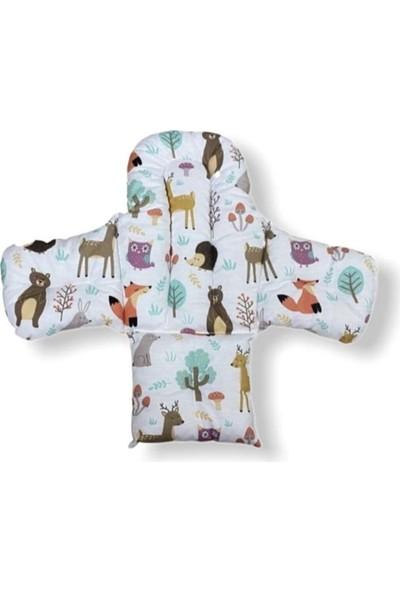 Bebek Özel Bebek Çocuk Mama Sandalyesi Minderi Doğa Desenli
