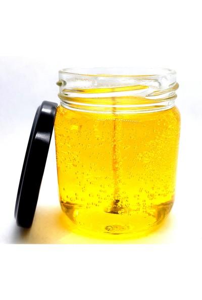Nil Mum Bal Sarı Sade Dekoratif Jel Mum 260 gr Büyük