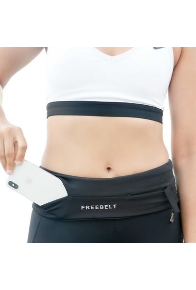 Freebelt Siyah Yeni Nesil Spor Bel Çantası Koşu ve Fitness Kemeri