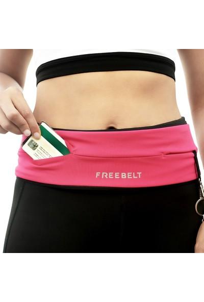 Freebelt Pembe Yeni Nesil Spor Bel Çantası Koşu ve Fitness Kemeri