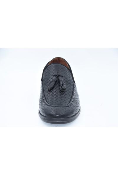 Erkek Deri Püsküllü Rahat Ayakkabı 112 Flies