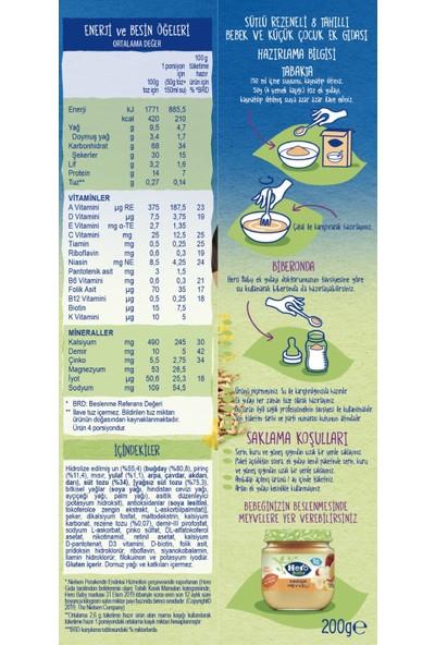 Hero Baby Sütlü 8 Tahıllı Rezeneli Kaşık Mama 200 gr x 6 Adet
