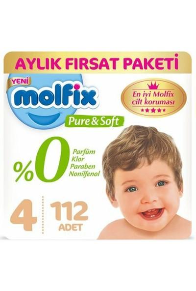 Molfix Molfix Pure & Soft 4 Maxi Beden 112'LI Süper Fırsat Paketi (56 x 2)