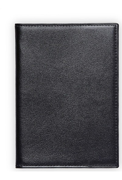 Emnana Deri Pasaport Cüzdanı - Siyah