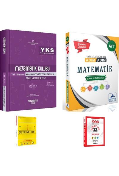 Matematik Kulübü TYT Kolay Matematik ve Paraf AYT Adım Adım Mat. Çözümlü Soru Kütüphanesi + Deneme