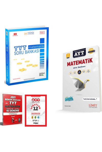 345 Yayınları TYT Matematik Soru Bankası Limit AYT Matematik Soru Bankası + Deneme
