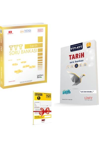 345 Yayınları TYT Tarih Soru Bankası ve Limit TYT-AYT Tarih Soru Bankası Seti + Deneme