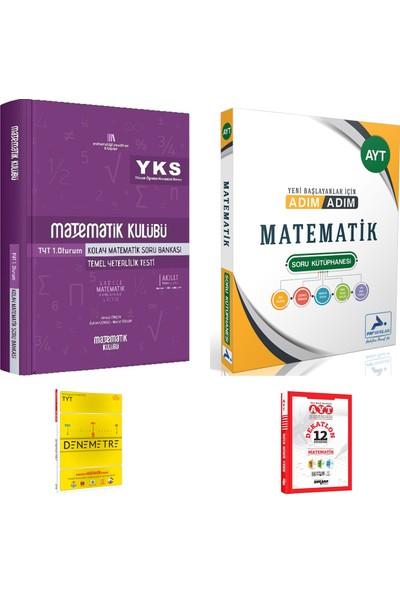 Matematik Kulübü TYT Kolay Matematik ve Paraf AYT Adım Adım Mat. Çözümsüz Soru Kütüphanesi + Deneme