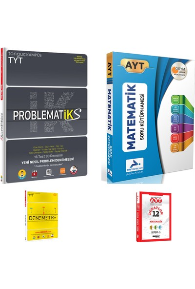 Tonguç Akademi TYT Problematiks ve Prf AYT Matematik Soru Kütüphanesi + Deneme