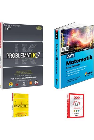 Tonguç Akademi TYT Problematiks ve Aydın AYT Matematik Soru Bankası + Deneme