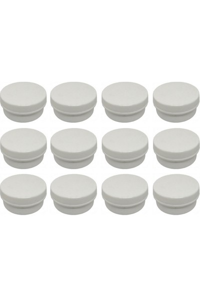Suvar Kimya Pomat Kutusu Beyaz 30 gr 12 Adet