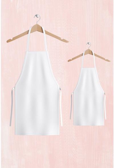 hepenuygun Anne Kız Mutfak Aşçı Önlüğü - Sıvı Geçirmez Duck Kumaş