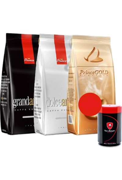 Prince Espresso Avantajlı Paket 3 x 1000 gr + 250 gr Tonino Lamborghini Kahve Yanında