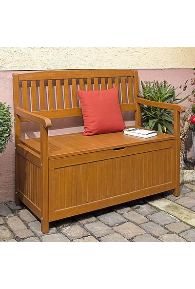 Evinizin Atölyesi Ahşap Sandıklı Bank, Bahçe Balkon Oturak
