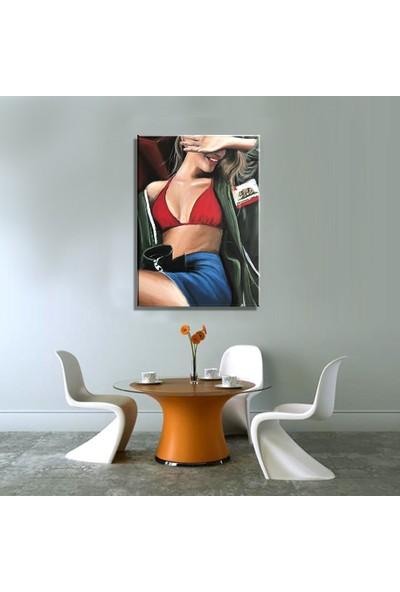 Mağazacım California Modern Sanat Yağlı Boya Reprodüksiyon Kanvas Tablo TBL1628 (35X50 Cm)