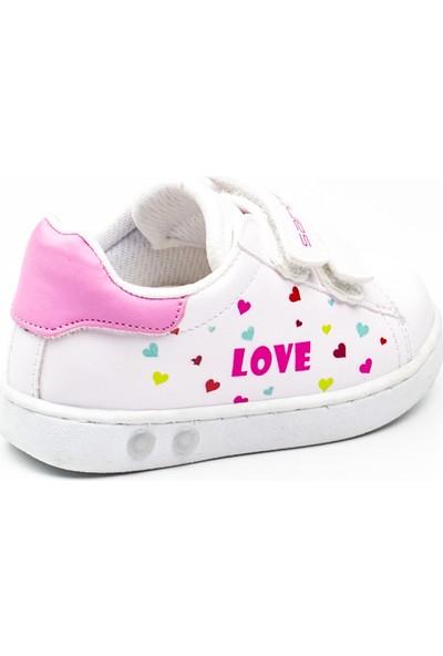 Sanbe 128 T 5404 Beyaz Kız Bebek Spor Ayakkabı