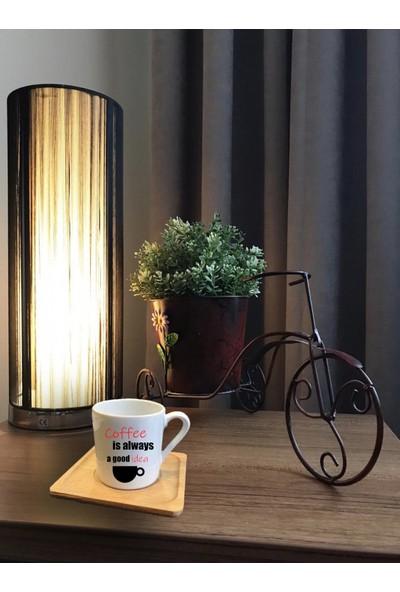 Alsa Tasarım Yazılı Türk Kahvesi Fincanı