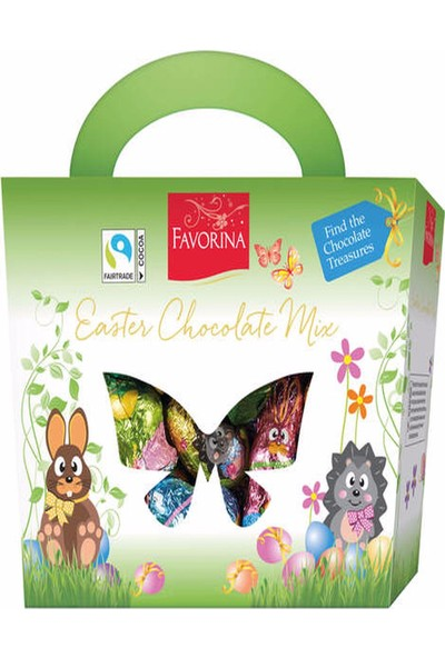 Favorina Sütlü Çikolatadan Yapılmış Paskalya Figürleri 500 gr