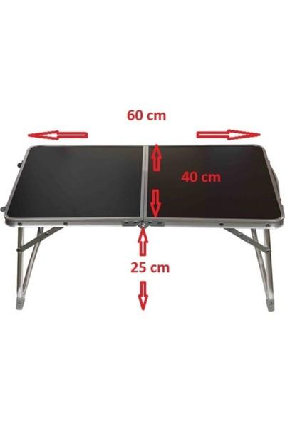 La Sheba Mini Pratik Masa Katlanır Kamp Piknik Masası Siyah 40 x 60 cm