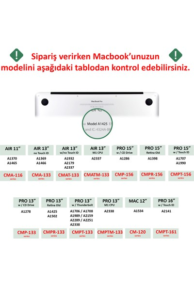 "Codegen Apple 13"" Macbook Pro A2338 M1 Şeffaf Kılıf Koruyucu Kapak CMPTM-133T"