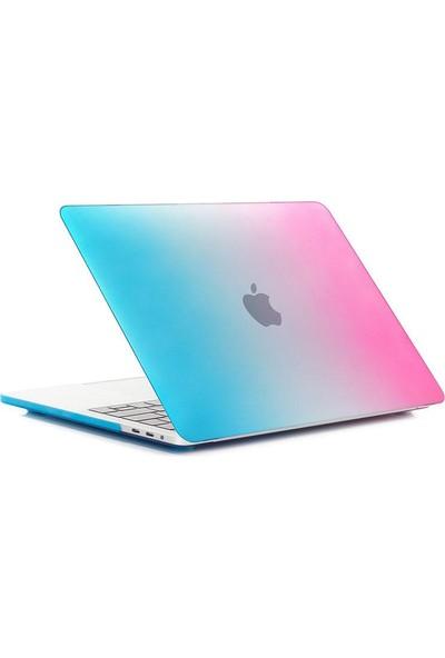 """Codegen Apple 13"""" Macbook Pro A2338 M1 Gökkuşağı Kılıf Koruyucu +Ekran Filmi CMPTM-133RW"""